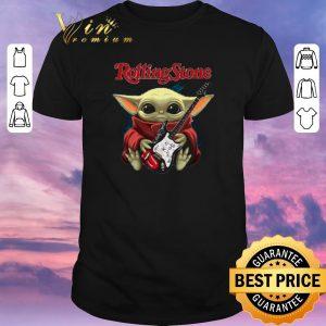 Premium Baby Yoda hug The Rolling Stone guitar Star Wars shirt sweater