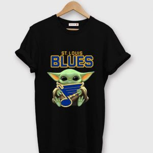 Premium Star Wars Hockey Baby Yoda Hug St Louis Blues shirt