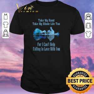 Pretty Guitar Lake Can't Help Falling In Love Lyrics Elvis Presley shirt sweater