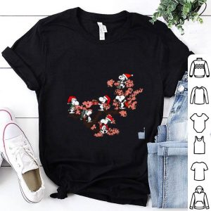 Snoopy under cherry blossom shirt