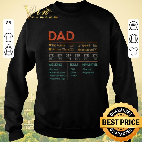 Top Dad hit points speed armor class initiative wielding vintage shirt sweater