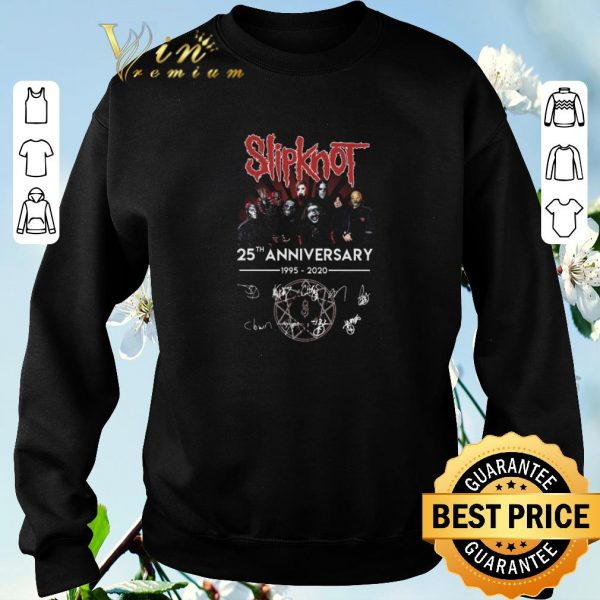 Top Slipknot 25th anniversary 1995 2020 signature autographed shirt sweater