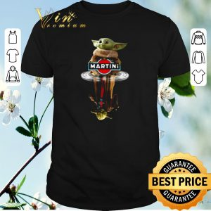 Awesome Baby Yoda reflection water mirror Master Yoda Martini Star Wars shirt sweater