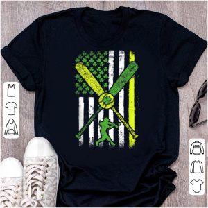 Beautiful Irish American Flag Softball Lover St Patrick's Day shirt