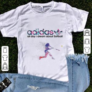 Beautiful adidas all day i dream about softball shirt