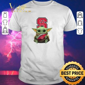 Funny Baby Yoda Hug NC State Wolfpack Ball Logo Star Wars shirt sweater