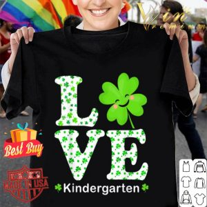 Funny Shamrock Kindergarten Teacher St Patricks Day Teacher shirt