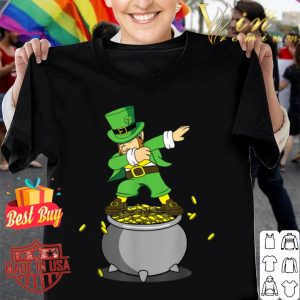 Gold Pot Dabbing Leprechaun St Patricks Day Boys Men shirt