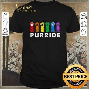 Hot LGBT cat paws Purride shirt sweater