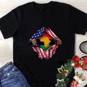 Hot Pan-Africanism Blood Inside Me South African American Flag shirt