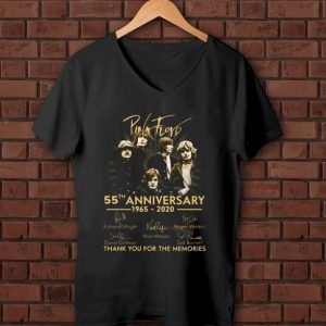 Hot Pink Floyd 55th anniversary thank you for the memories signature shirt