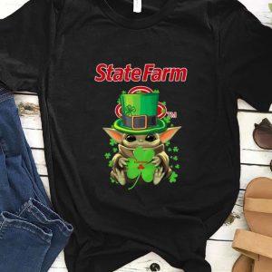 Hot Star Wars Baby Yoda State Farm Shamrock St.Patrick's Day shirt