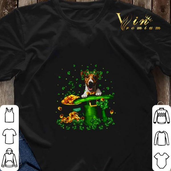 Jack Russell happy St. Patrick's Day shirt sweater