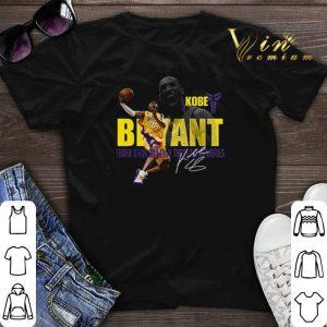 Kobe Bryant Los Angeles Lakers Thank U For So Thrilling Memories shirt sweater