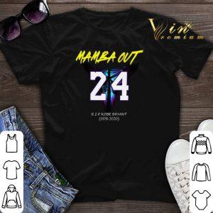 Mamba Out 24 R.I.P Kobe Bryant logo Black Mamba 1978 2020 shirt sweater