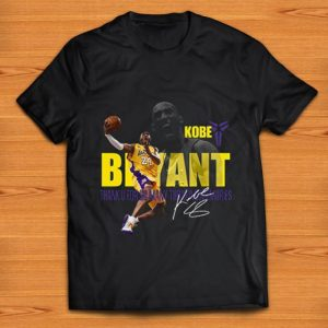 Nice Kobe Bryant Los Angeles Lakers Thank You For So Many Memories Signature shirt