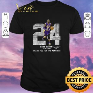 Nice Rest in peace Kobe Bryant 24 Thank you for the memories signed shirt sweater