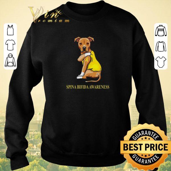 Nice Staffordshire Terrier tattoo i love Spina Bifida Awareness shirt sweater