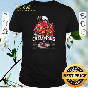 Nice Super Bowl LIV Champions signatures Kansas City Chiefs shirt sweater