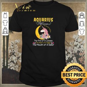 Nice Unicorn aquarius woman the soul of a unicorn the fire of a lioness shirt sweater