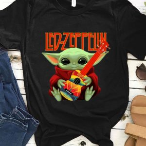 Official Baby Yoda Hug Led-zeppelin Guitar shirt