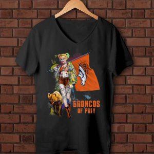 Official Harley Quinn Denver Broncos Of Prey Denver Broncos Flag shirt