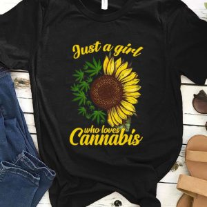 Official Sunflower just a girl who loves Cannabis shirt