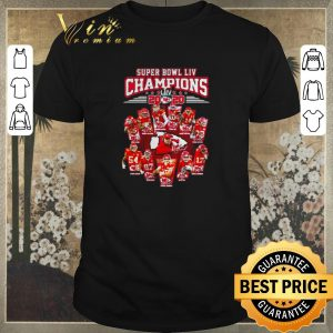 Official Super Bowl LIV Champions 2020 Kansas City Chiefs signatures shirt sweater