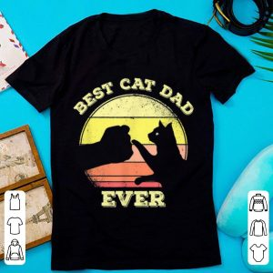Original Best Cat Dad Ever Vintage Cat Lover shirt