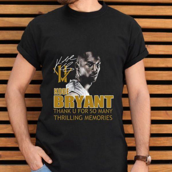 Original Kobe Bryant Thank You For So Many Thrilling Memories Signature shirt
