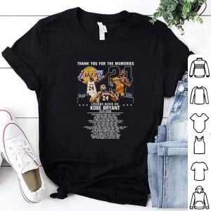 Original Thank you for the memories legends never die Kobe Bryant 1978-2020 shirt