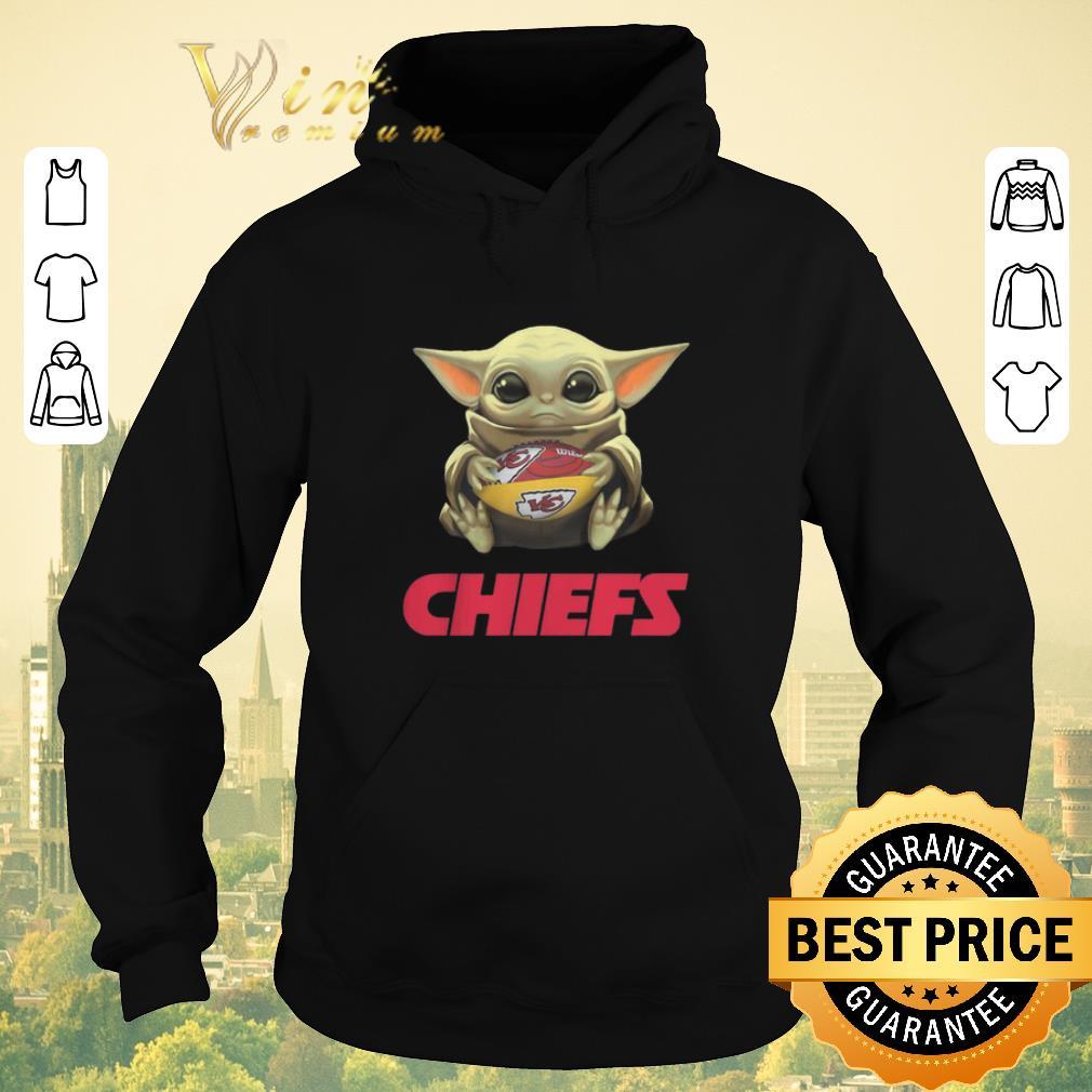 Premium Baby Yoda hug Kansas City Chiefs Logo ball Star Wars shirt sweater 4 - Premium Baby Yoda hug Kansas City Chiefs Logo ball Star Wars shirt sweater