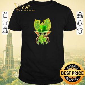 Premium Baby Yoda hug Wu Tang Clan Logo St Patrick Day Star Wars shirt sweater