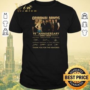 Premium Criminal Minds 15th anniversary 2005 2020 signatures thank you for the memories shirt sweater