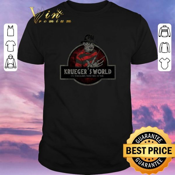 Premium Freddy Krueger's World In Dreams You're Mine Jurassic Park logo shirt sweater