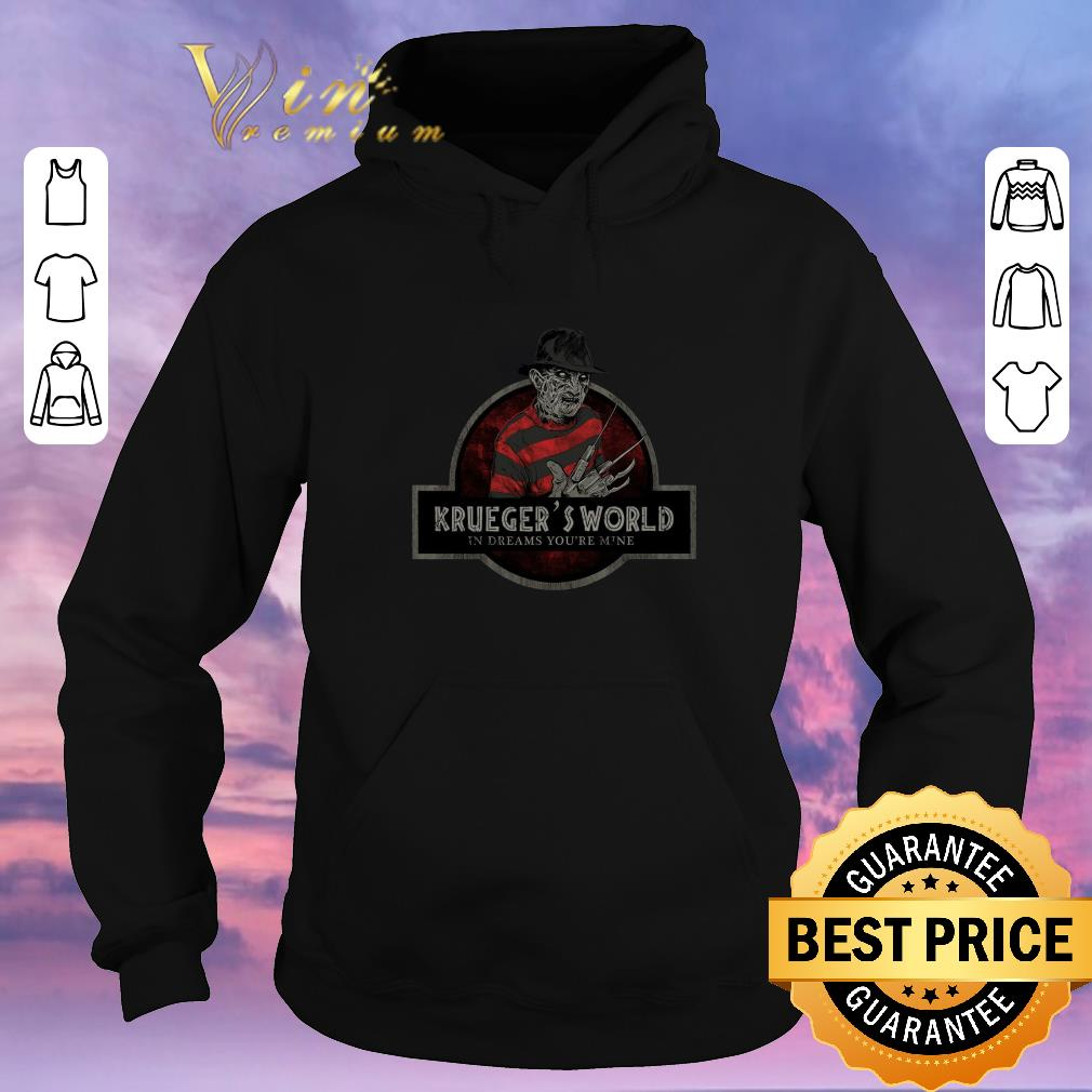 Premium Freddy Krueger s World In Dreams You re Mine Jurassic Park logo shirt sweater 4 - Premium Freddy Krueger's World In Dreams You're Mine Jurassic Park logo shirt sweater