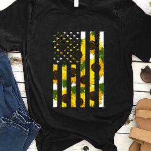 Premium Sunflower American Flag shirt