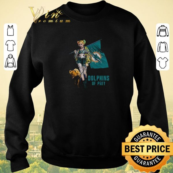 Pretty Harley Quinn Mashup Miami Dolphins Of Prey shirt sweater
