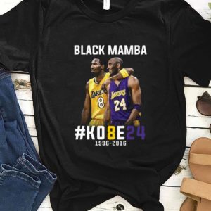 Pretty Kobe Bryant Black Mamba 1996 - 2016 Lakers shirt