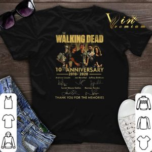 The Walking Dead 10th anniversary 2010 2020 signatures thank you for the memories shirt sweater