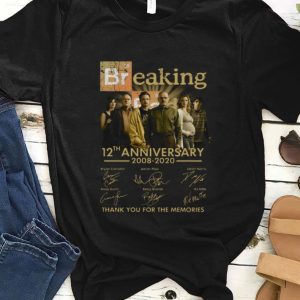 Top Breaking Bad 12th Anniversary 2008 – 2020 Thank You For The Memories shirt