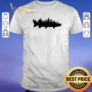 Top Fishing Musky Pine Forest Treeline Angler shirt sweater
