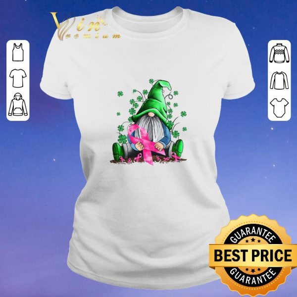 Top Gnome hug Breast Cancer Awareness St. Patrick's day shirt sweater