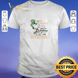 Top Snoopy It's St. Patrick's Day and I'm thinking of you with affection shirt