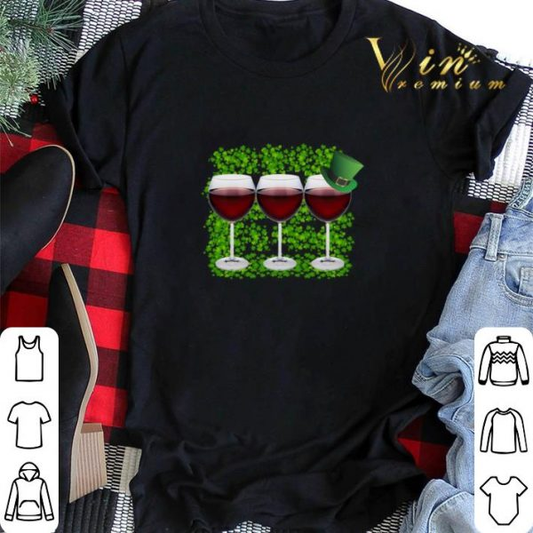 Wine Glass Irish Happy St. Patrick's Day shirt sweater