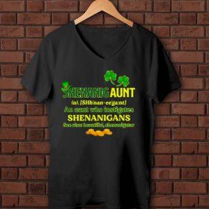 Awesome Shenanigan An Aunt Who Instigates Shenanigans See Also Beautiful Shenanigator St Patrick Day shirt