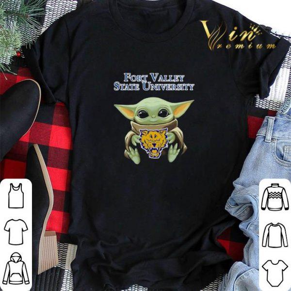 Baby Yoda Hug Fort Valley State Wildcats Star Wars shirt sweater
