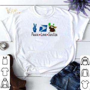Baby Yoda Peace Love Sanitize United States Postal Service shirt sweater