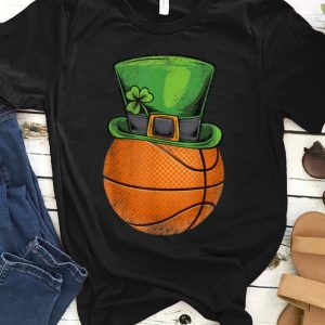 Great Basketball Leprechaun Shamrock St Patricks Day Men Boys Kids shirt
