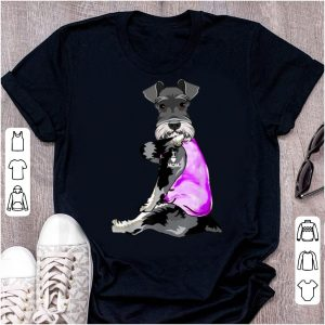 Great Funny Dog Schnauzer I Love Mom Tattoo Mother's Day Gift shirt